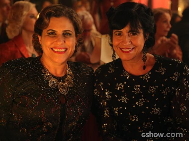 Duca e Thelma nas últimas gravações de Joia Rara (Foto: Pedro Curi/TV Globo)