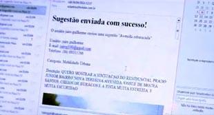 Telespectador deve colocar o seu número de contato como item fundamental na colaboração (Foto: reprodução/TV Clube)