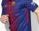 Site vaza novas imagens da futura camisa do Barcelona, com listras bem finas