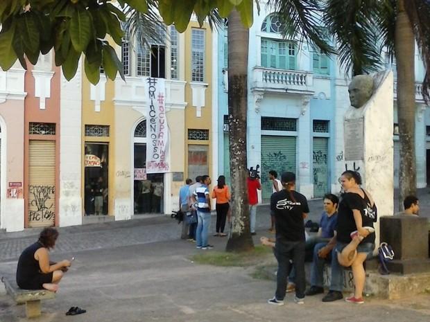 Ocupação em João Pessoa (Foto: Antônio Vieira/TV Cabo Branco)
