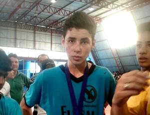 Celso Júnior, o 'cara' da final da Copa da Juventude de futsal (Foto: Gabriela Pavão/Globoesporte.com)