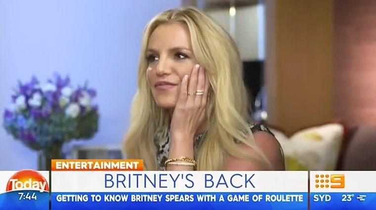 Britney Spears no Today Show (Foto: Reprodução)