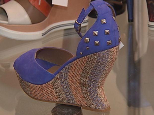 9e9fbd271 Saltos são um diferencial nos sapatos da coleção da próxima estação. (Foto:  reprodução