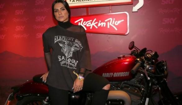 Cleo Pires esteve em camarote: ela vai assistir ao show do Aerosmith no Rock in Rio (Foto: Ag News)