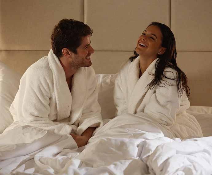 E como não se lembrar de quando Mari e Benjamin não moravam juntos e ela tinha que dormir no hotel dele? (Foto: Raphael Dias/Gshow)