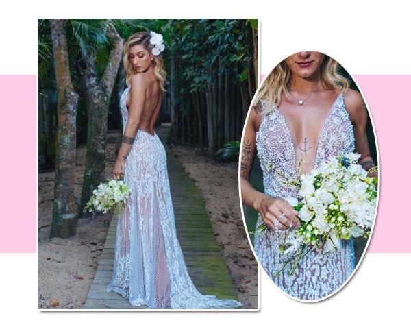 O vestido de Gabriela Pugliesi foi assinado por Lethicia Bronstein (Foto: Reprodução/Instagram)