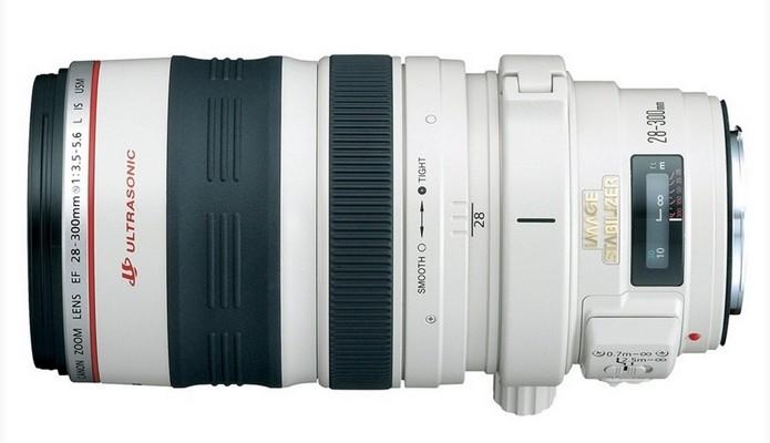 Lente zoom telefoto EF 28-300mm f/3.5-5.6L IS USM (Foto: Divulgação/Canon)