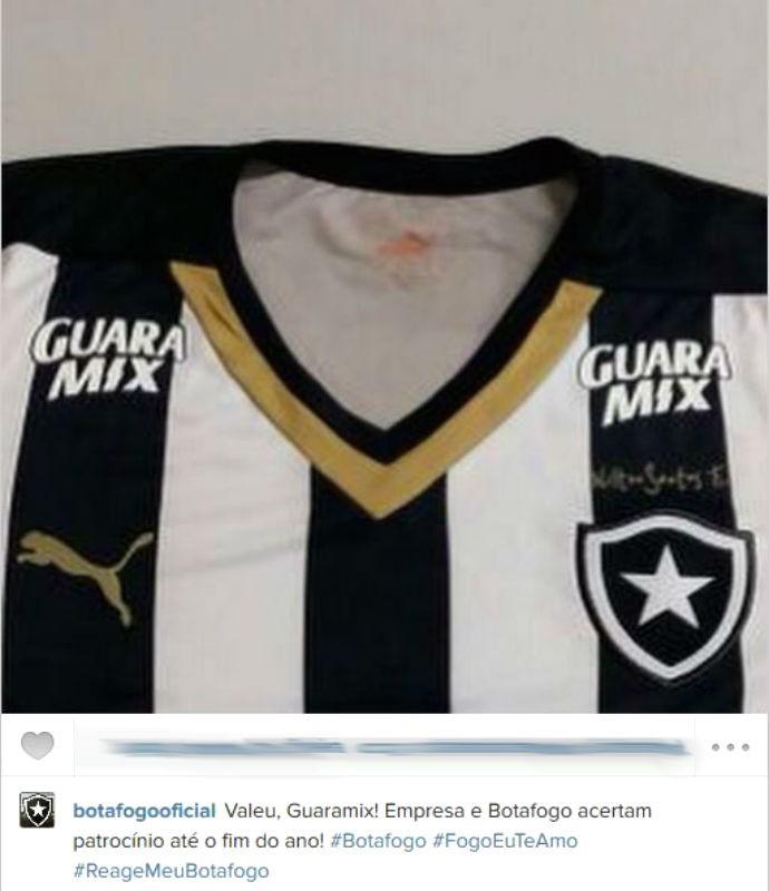 Botafogo anuncia patrocínio do Guaramix (Foto: Reprodução/Instagram)