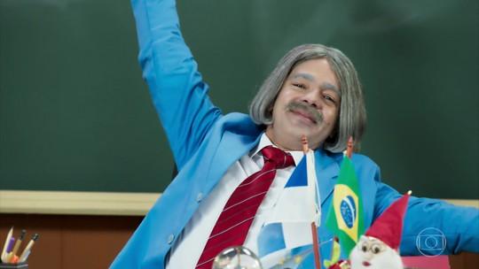 Professor Raimundo manda mensagem de Natal na 'Escolinha'