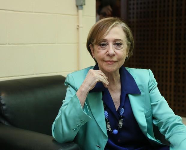 Fernanda Montenegro nos bastidores do Domingão (Foto: Carol Caminha/ Tv Globo)