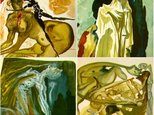 Catálogo mostra gravuras de Salvador Dali que serão doadas para a Prefeitura de São Carlos (Foto: Reprodução/EPTV)