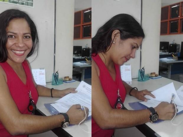 Luana Coutinho trabalhava como merendeira quando concluiu o mestrado em educação; na sexta-feira (23) ela dará a primeira aula como professora na mesma universidade em que se formou (Foto: Reprodução/Facebook/Luana Coutinho)