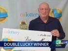 Americano 'sortudo' ganha 2 vezes na loteria no intervalo de 5 minutos