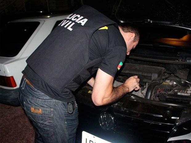 Carros roubados Região Metropolitana Porto Alegre (Foto: Polícia Civil/Divulgação)