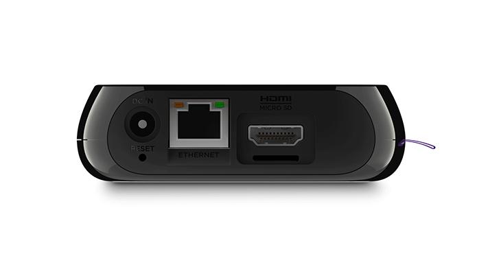 Roku 3 tem Ethernet, entrada para cartão microSD e porta USB para pendrive e HD externo (Foto: Divulgação/Roku)