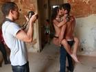 Fran e Diego, do 'BBB 14', posam em ensaio inspirado em '50 tons de cinza'