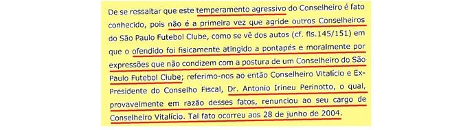 (editado) Parecer Comitê Ética São Paulo Página 10 (Foto: Arte: GloboEsporte.com)