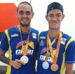 Rodrigo Parreira e Ruiter atletas paralímpicos de Uberlândia (Foto: CDDU/Divulgação)
