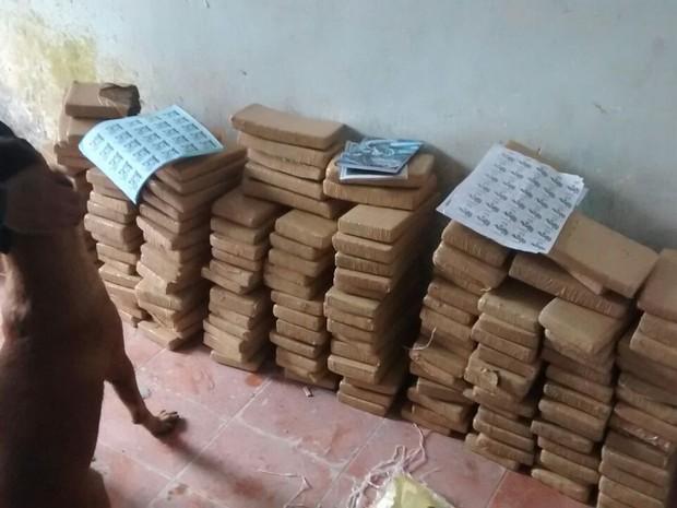 Cerca de 150 tabletes de drogas foram apreendidos (Foto: Divulgação/ Unidade de Polícia Pacificadora)