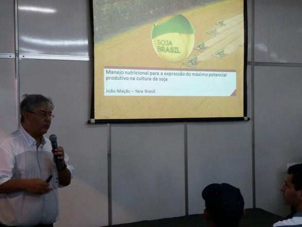 Palestras sobre manejo marcaram primeiro dia de evento (Foto: Anderson Viegas/ G1 MS)