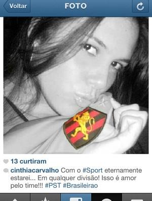 Torcedora do Sport (Foto: Reprodução/Internet)