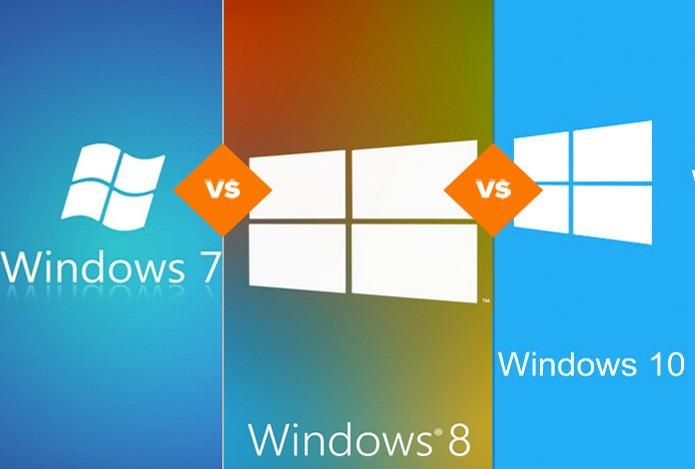 Windows 7, Windows 8.1 ou Windows 10? Entenda por que é vantagem atualizar o sistema (Foto: Reprodução/TechTudo)