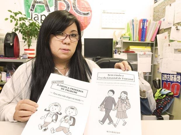 Michie Afuso, da ABC Japan, sugere um intercâmbio na área educacional entre Brasil e Japão (Foto: Ewerthon Tobace/BBC Brasil)