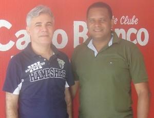 Franklin Keill (presidente da Federação de Badminton da Paraíba) e Antônio Toledo (presidente do Esporte Clube Cabo Branco) (Foto: Divulgação / FebaPB)