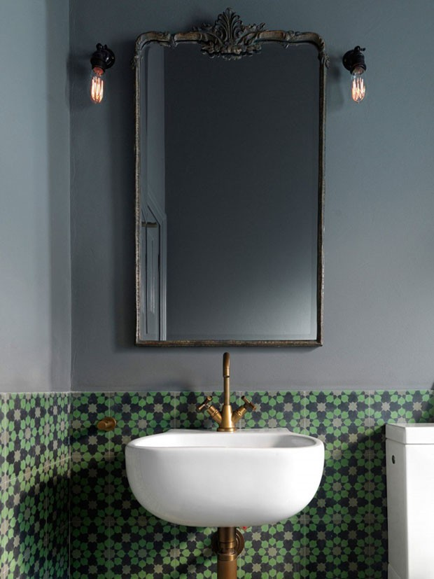 Décor do dia: lavabo com ares vintages