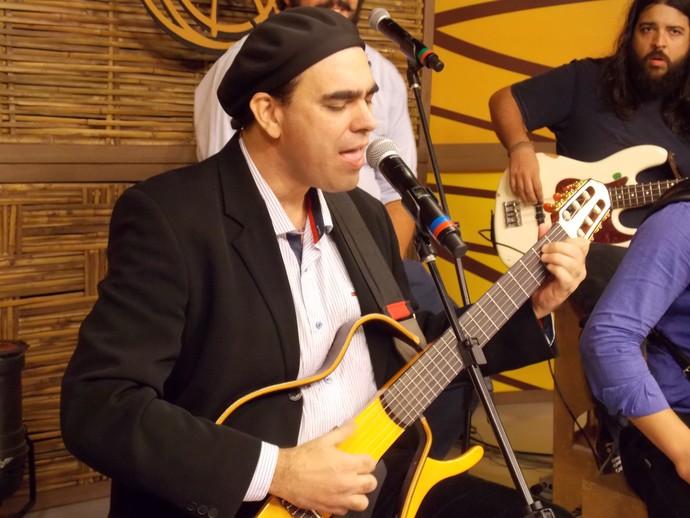 Cesar Santos no Galpão Crioulo (Foto: Andrielle Santos/RBS TV)