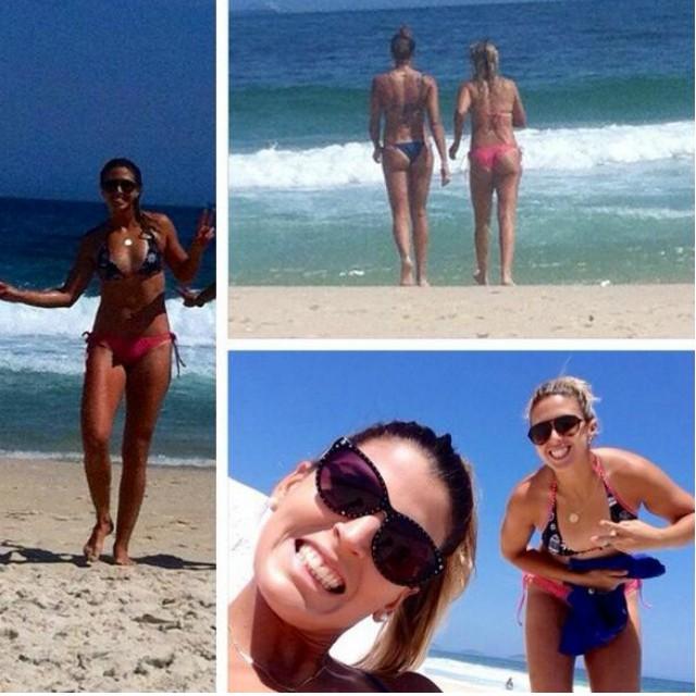 Natasha e Mari Paraíba na praia no Rio de Janeiro (Foto: Reprodução/Instagram)