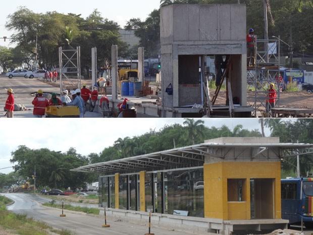 Corredor Norte-Sul vai funcionar apenas do TI PE-15, em Olinda, ao Centro do Recife (Foto: Luna Markman e Vitor Tavares/G1)