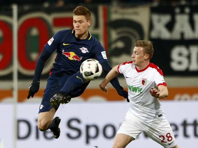 RB Leipzig x Augsburg Campeonato Alemão (Foto: Michaela Rehle/Reuters)
