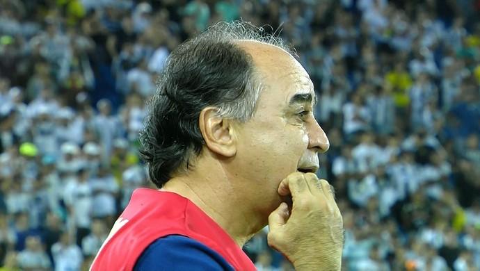 Técnico Marcelo Oliveira comandou o Cruzeiro na partida contra o ABC (Foto: Reprodução/TVGLOBO)