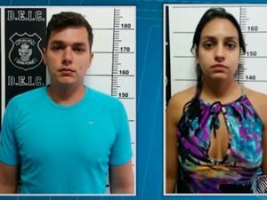 Casal foi preso em Goiás e será transferido para a Bahia (Foto: Reprodução/TV Bahia)