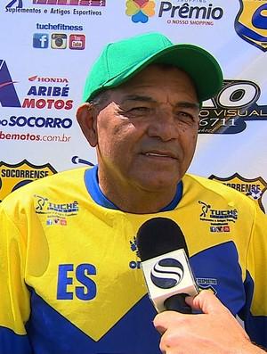 Edmilson Santos técnico Socorrense (Foto: Reprodução/TV Sergipe)