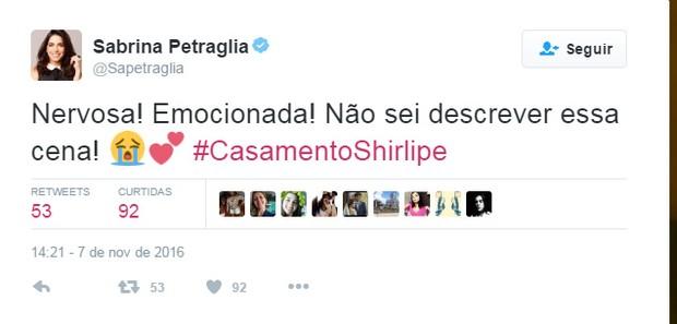 Casamento de Shirlipe emociona redes sociais (Foto: Reprodução / Twitter)