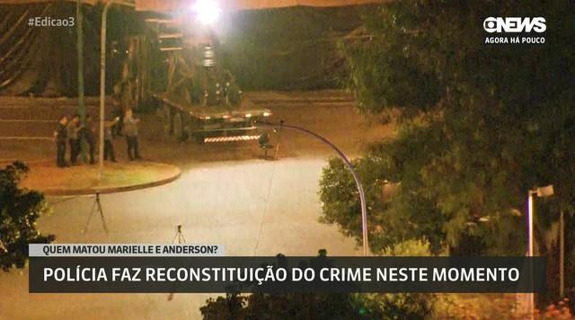 Polícia simula momento dos tiros em reconstituição dos assassinatos de Marielle e Anderson