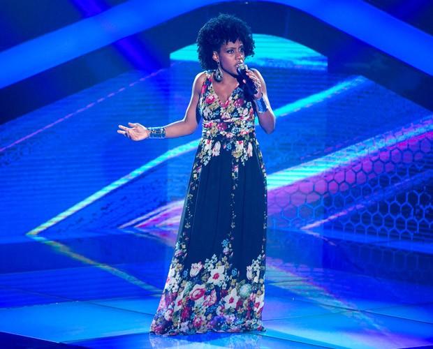 Rafaela Melo canta na terceira noite de Audições à Cegas  (Foto: Isabella Pinheiro/ TV Globo)