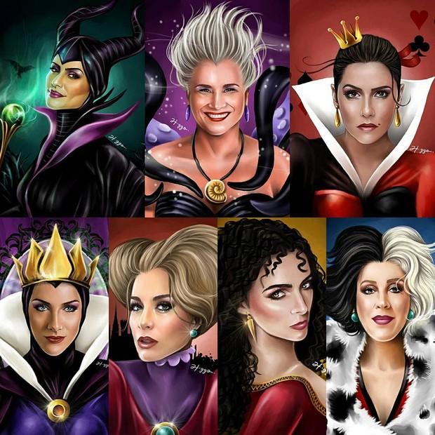 Ilustrador transforma famosas brasileiras em vilãs da Disney (Foto: Reprodução / Instagram)