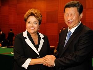 Dilma e Xi Jinping encontram-se na reunião dos Brics (Foto: Roberto Stuckert/PR)