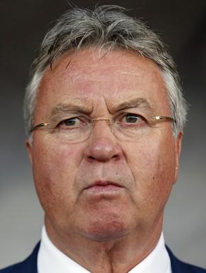 Guus Hiddink Letônia x Holanda (Foto: AP)