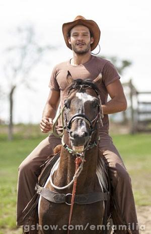 Fernando já andava à cavalo desde criança (Foto: Inácio Moraes / TV Globo)