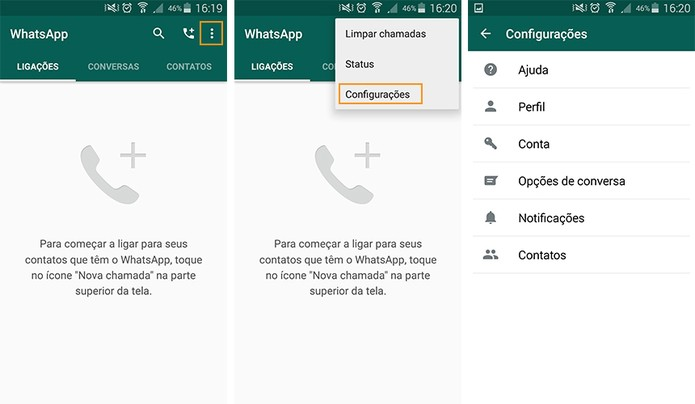 WhatsApp para as versões mais recentes do Android (Foto: Reprodução/Barbara Mannara)
