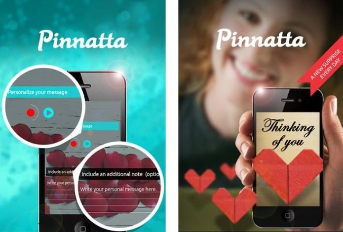 Pinnatta cria cartão digital com mensagens de voz para ser enviado pelo Facebook (Foto: Reprodução/AppStore)