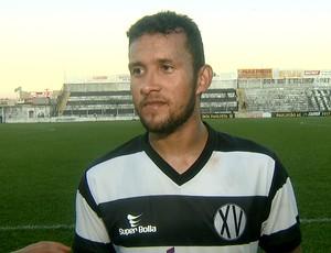 Rodrigo, zagueiro XV de Piracicaba (Foto: Reprodução EPTV)