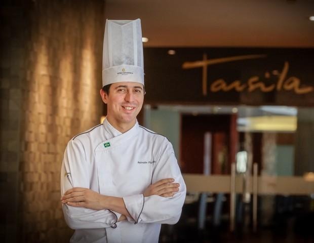 O chef Reinaldo Figueredo comanda o Tarsila, no InerContinental, que fará ceias de Natal e Ano Novo (Foto: Divulgação)