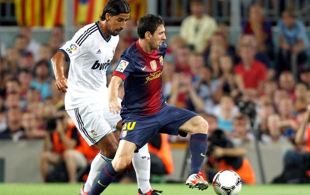 Messi e Khedira, Barcelona x Real Madrid (Foto: Agência Reuters)