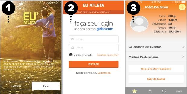eu atleta aplicativo 1 (Foto: eu_atleta)