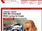 Lindsay Lohan será acusada por mentir para polícia, diz site
